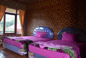 Puncak Jaya Darajat Cottage Papandayan Tradisional Twin Bed
