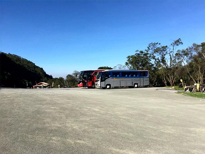 Area parkir gunung Papandayan